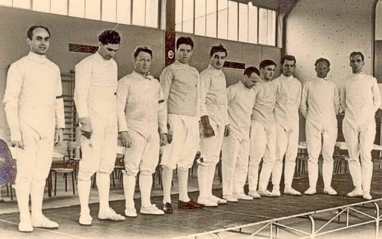 Freundschaftskampf 1957 – die Degenmannschaften von Koblenz und Neunkirchen