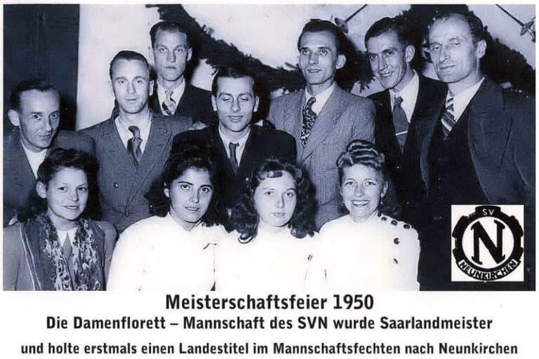 Meisterschaftsfeier 1950