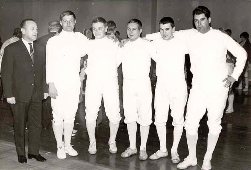 Saarlandmeister und 5. Platz bei den Deutschen-Mannschafts-Meisterschaften 1968 in Duisburg im Säbelfechten